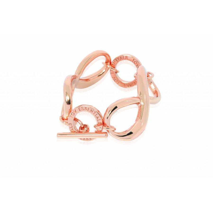 Big infinity bracelet - Rose