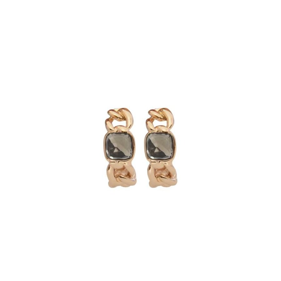 Rock it gourmet earring - Rose/ Grey quartz