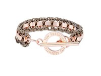 Small cord venice bracelet - Rose/ Natural