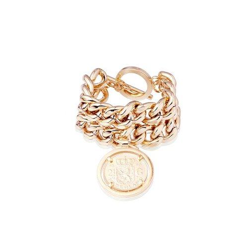 Double chain armband - Rosé