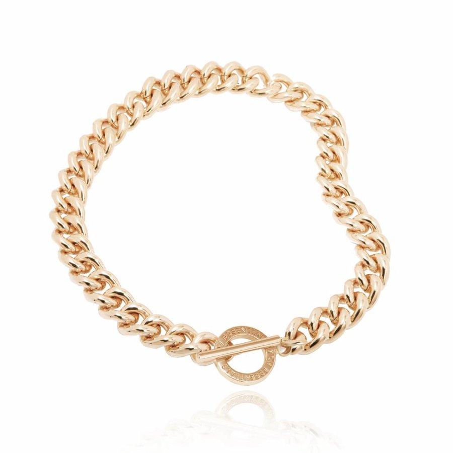 Small solochain collier- Light gold
