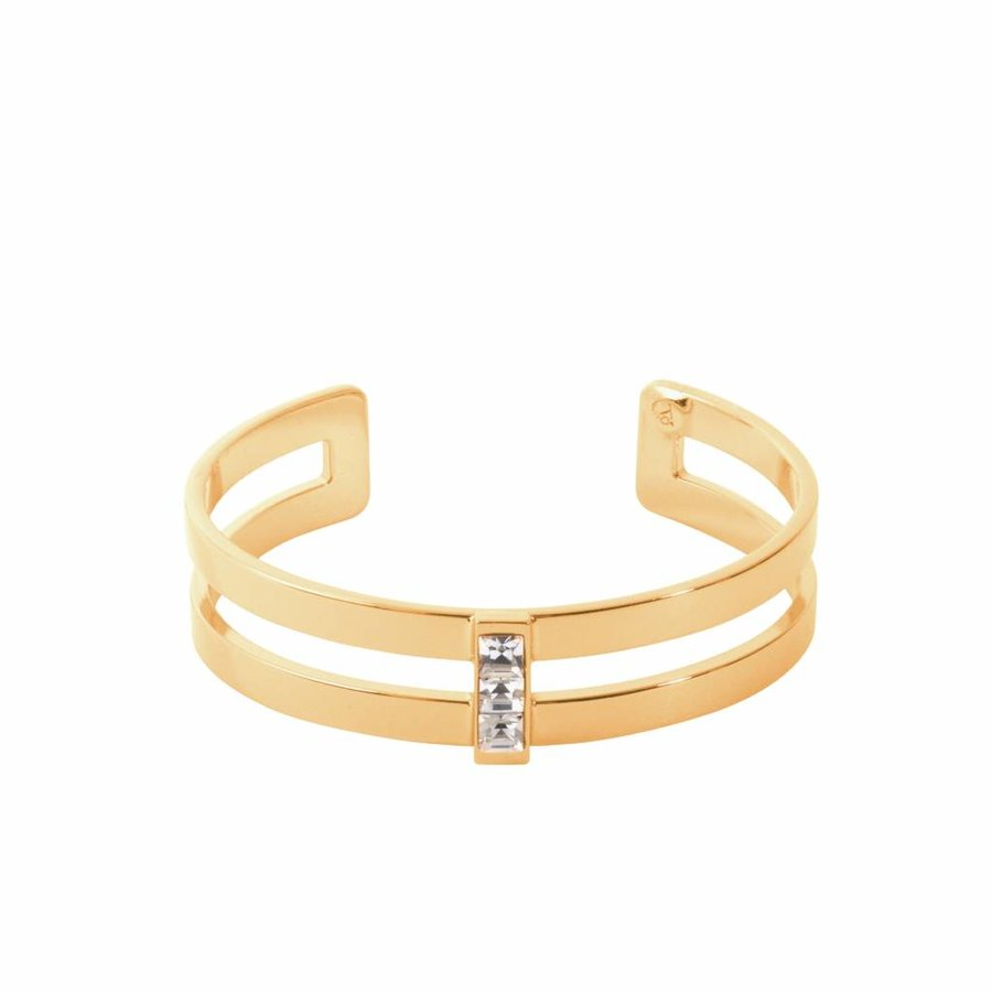 Phoenix multi cuff - Gold/ Crystal