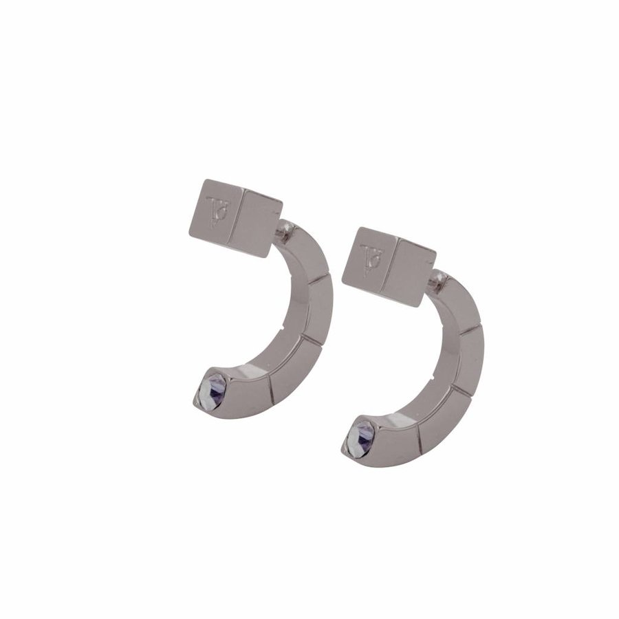 Phoenix earring - Gun metal/ Black diamont