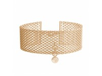 Noble lady choker - Light gold