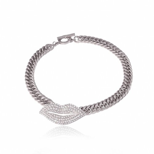 Kiss mermaid collier - Silver