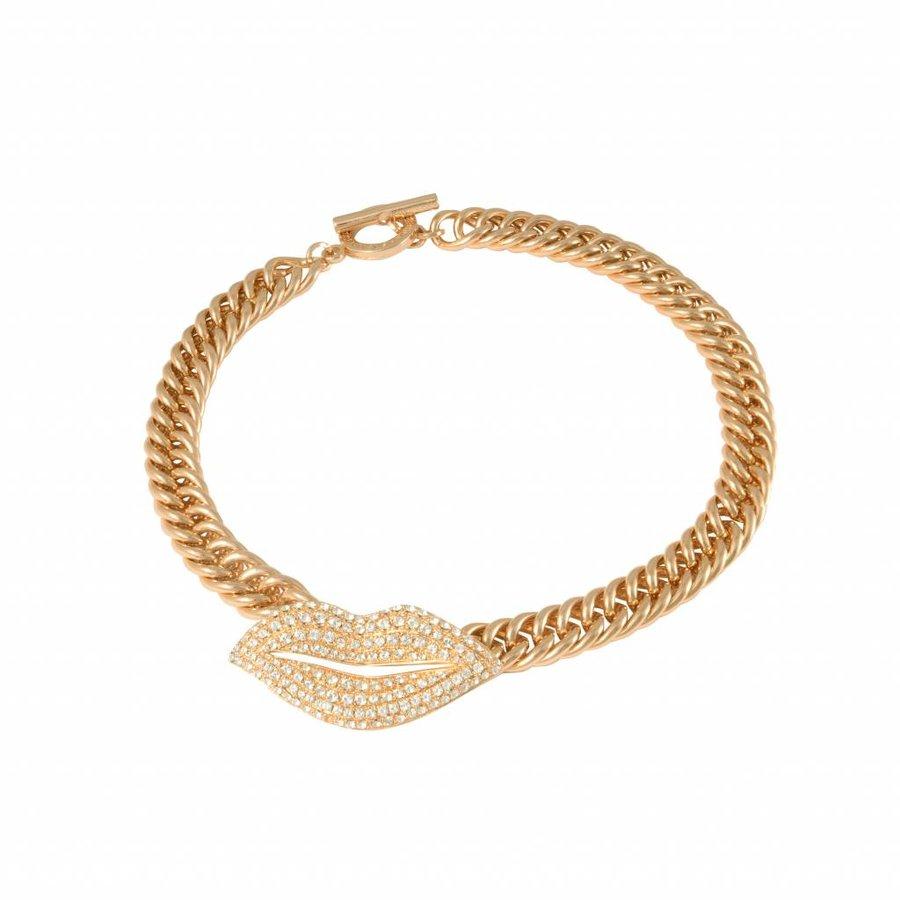 Kiss mermaid collier - Gold