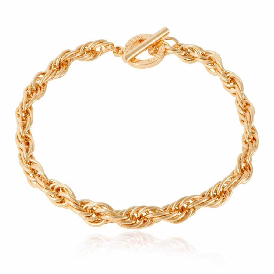 Small twisted chain collier - gold