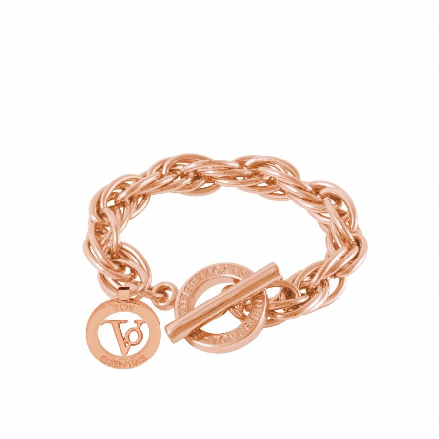 Small twisted Chain - Armband - Rose