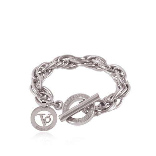 Small twisted Chain - Armband - Zilver