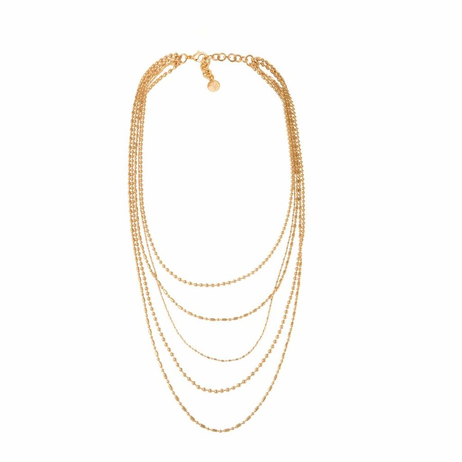 Ball chain layer necklace - Gold