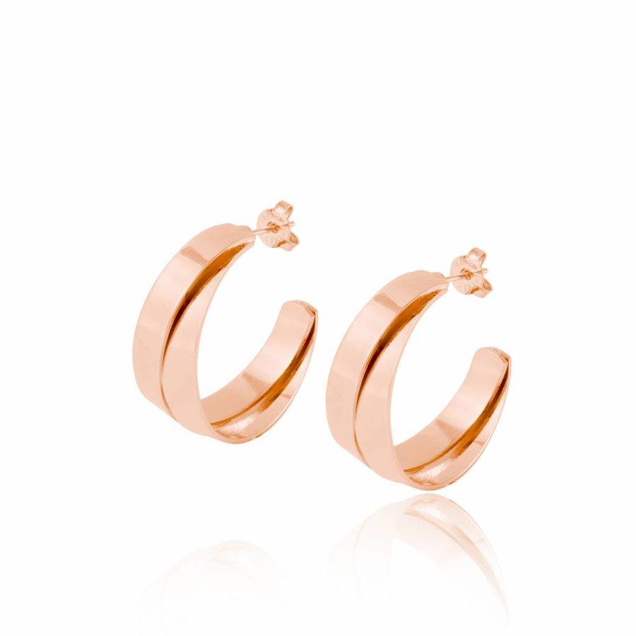 Wave earrings - rose