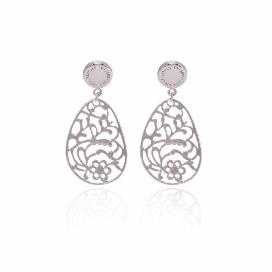Botanic stud earring - Silver