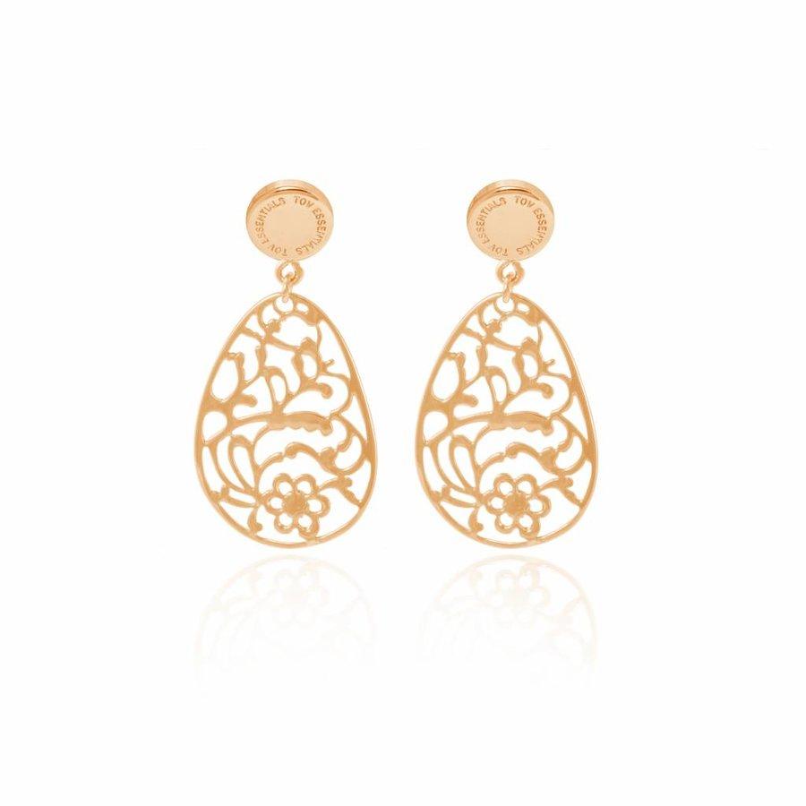 Botanic stud earring - Gold