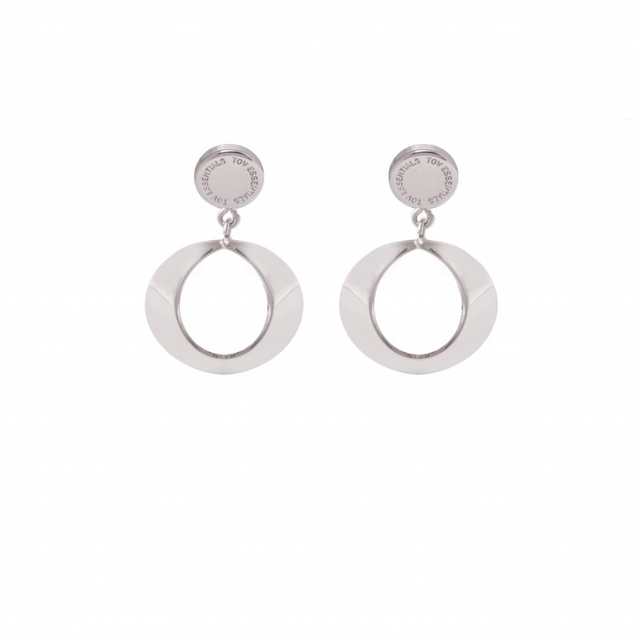 TOV halo earring - White gold