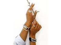 Oak twig bracelet - Gold/ Black
