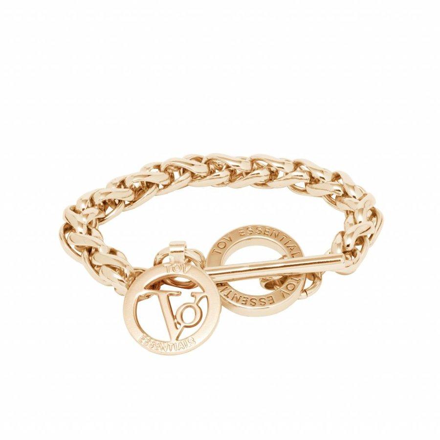 Small spiga bracelet - Light gold