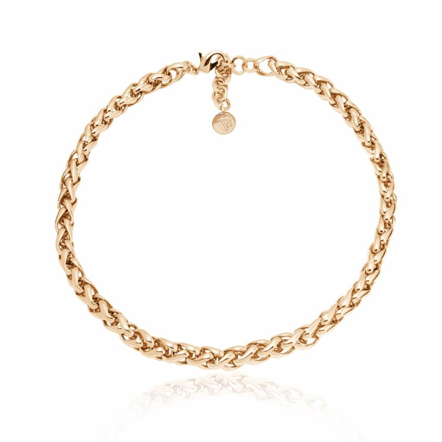 Small spiga collier - Light gold