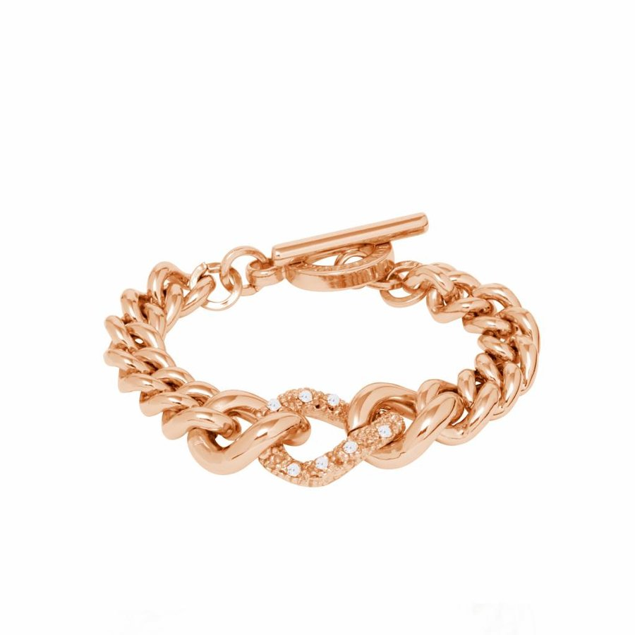 Diamond in the rought bracelet - Rose/ Gold shadow