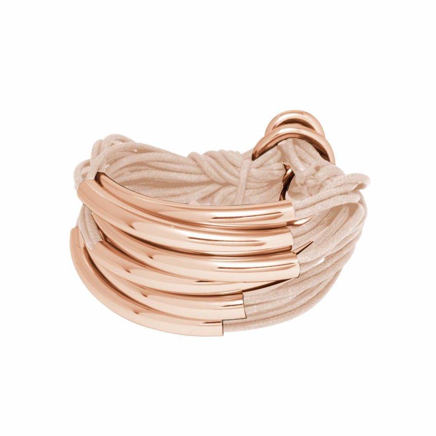 Big Lots of cord tube bracelet - Rose/ Powder pink