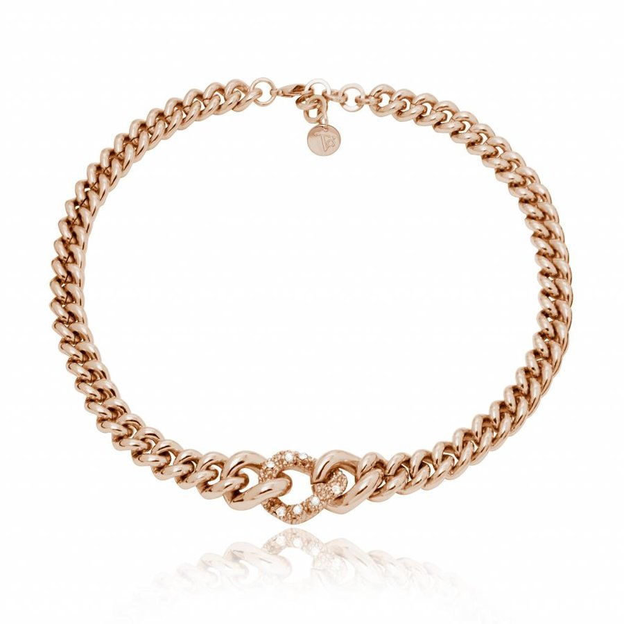 Diamond in the rough collier - Rose / golden shadow