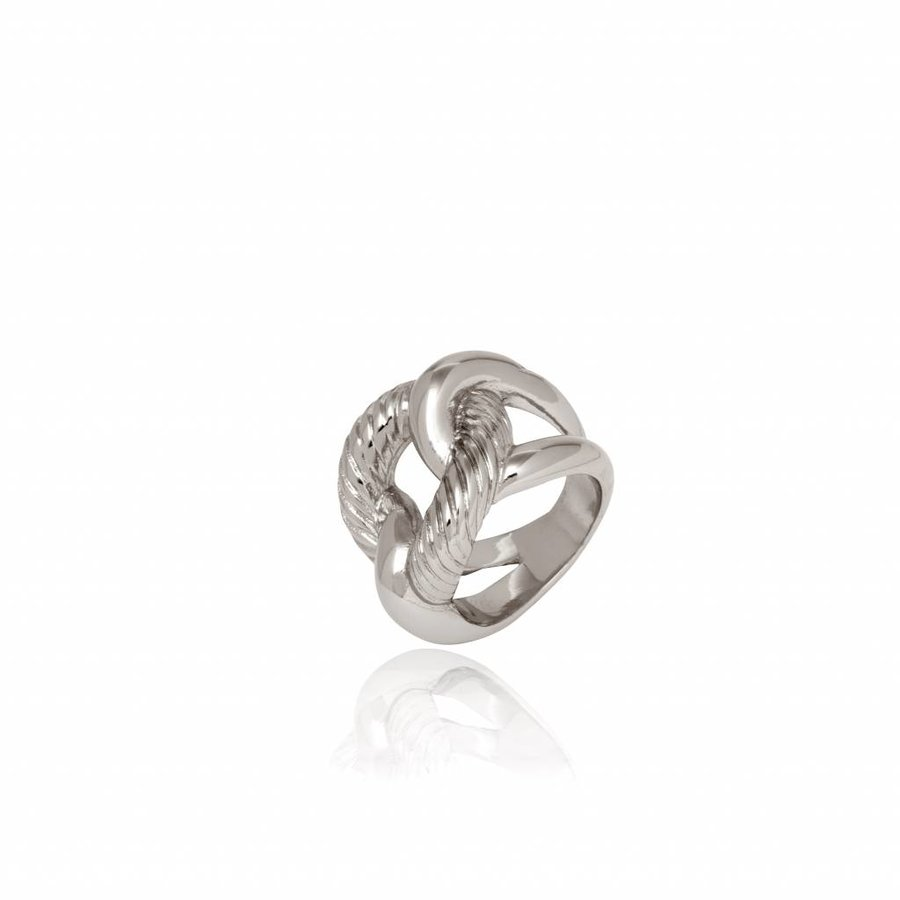 Profile gourmet ring - Zilver