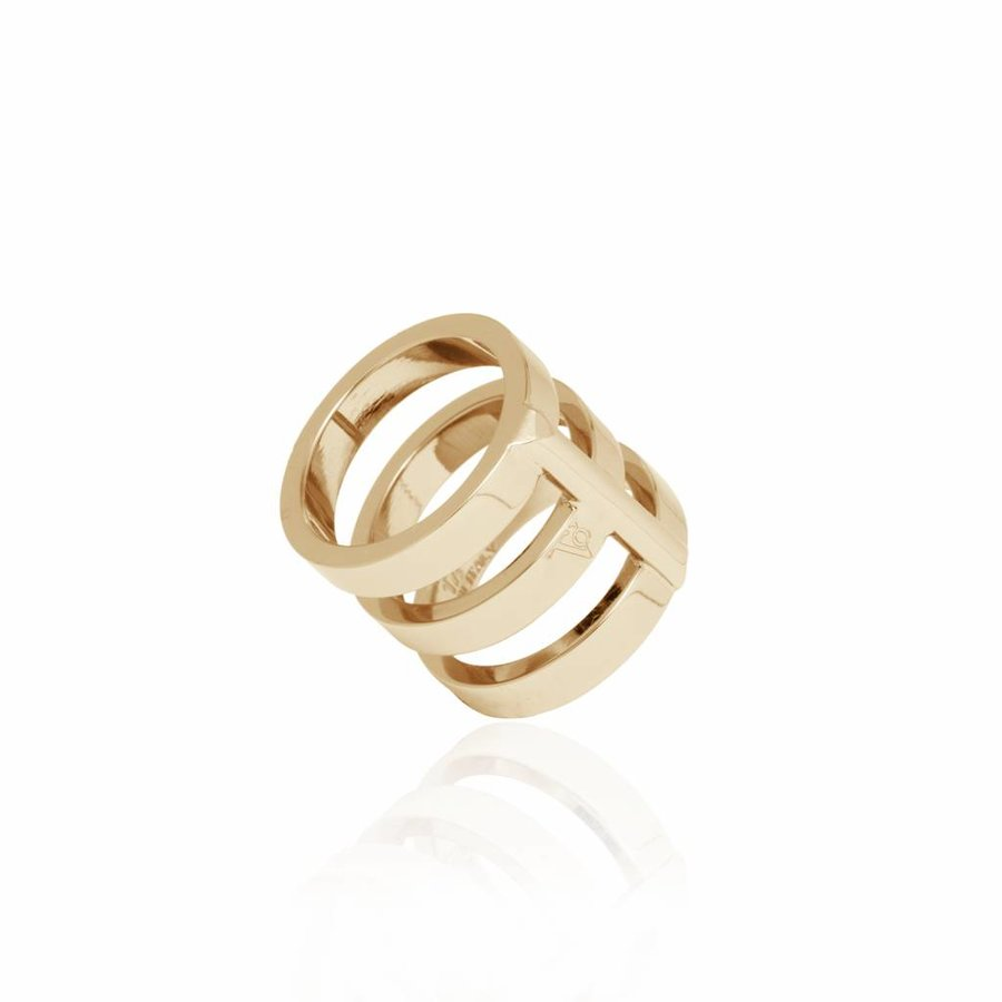 Future multi ring - Champagne goud