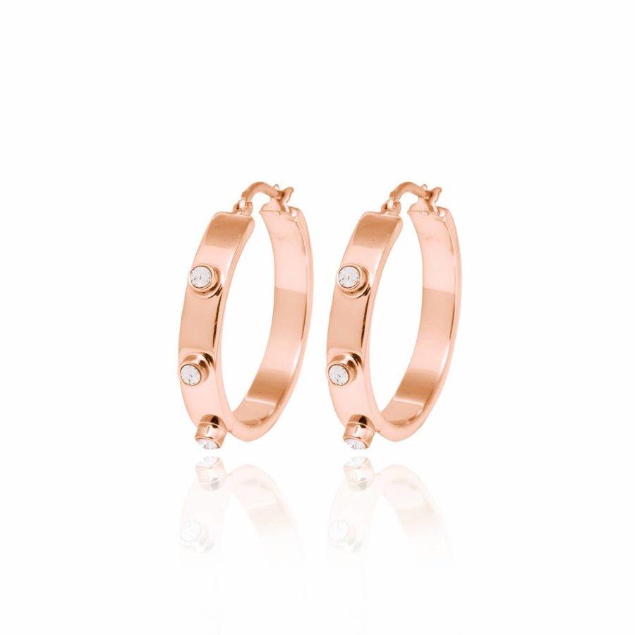 Stone earring - Rose/ Golden shadow