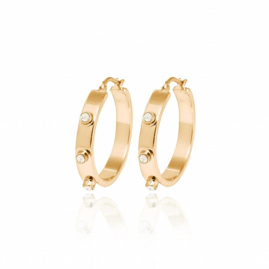 Stone earring - Gold/ Golden shadow