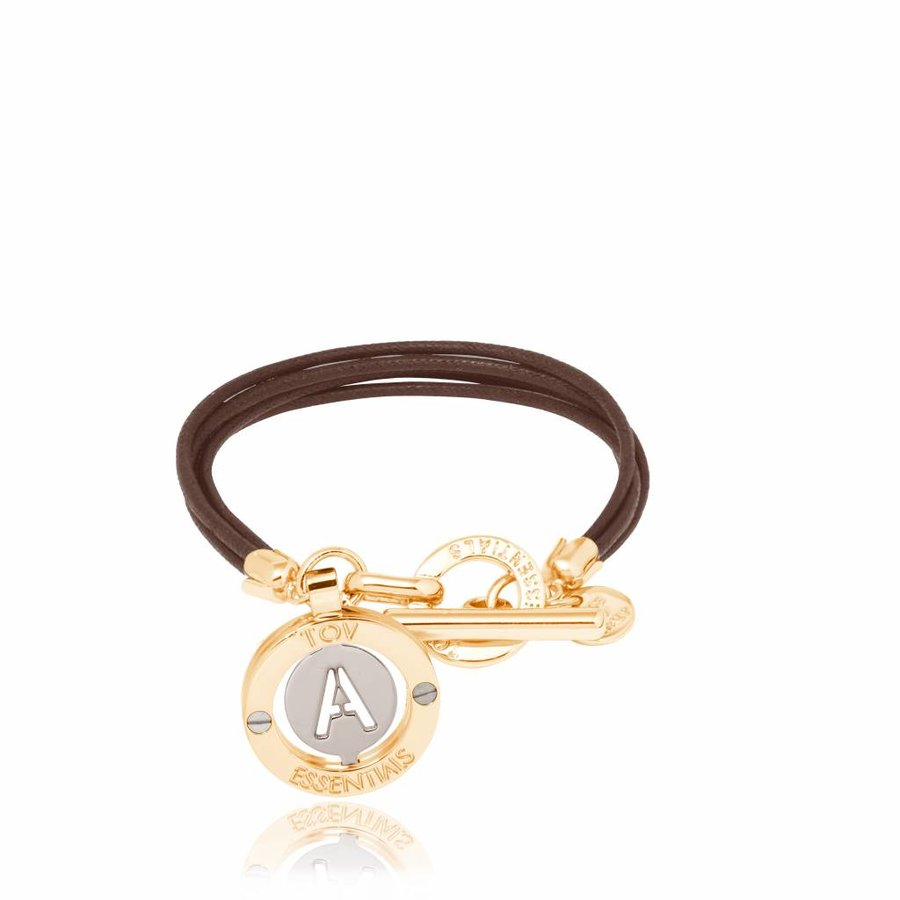 Cord bracelet with setting - Gold/ T morrow