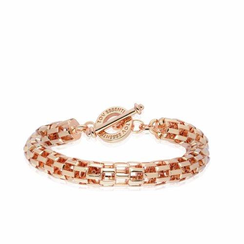 Big round chain armband - Rose