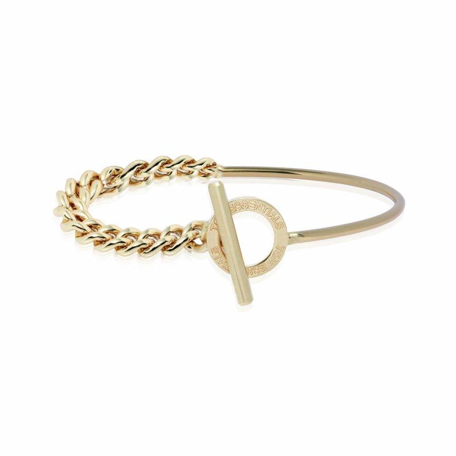Cuff & chain armband - Champagne goud