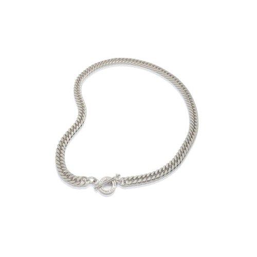 Diamond cut gurmet necklace - Silver