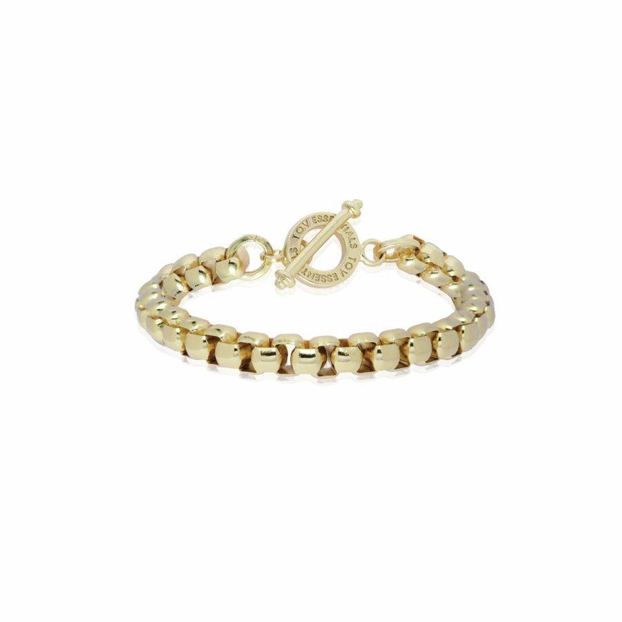 Round venice chain bracelet - Light gold