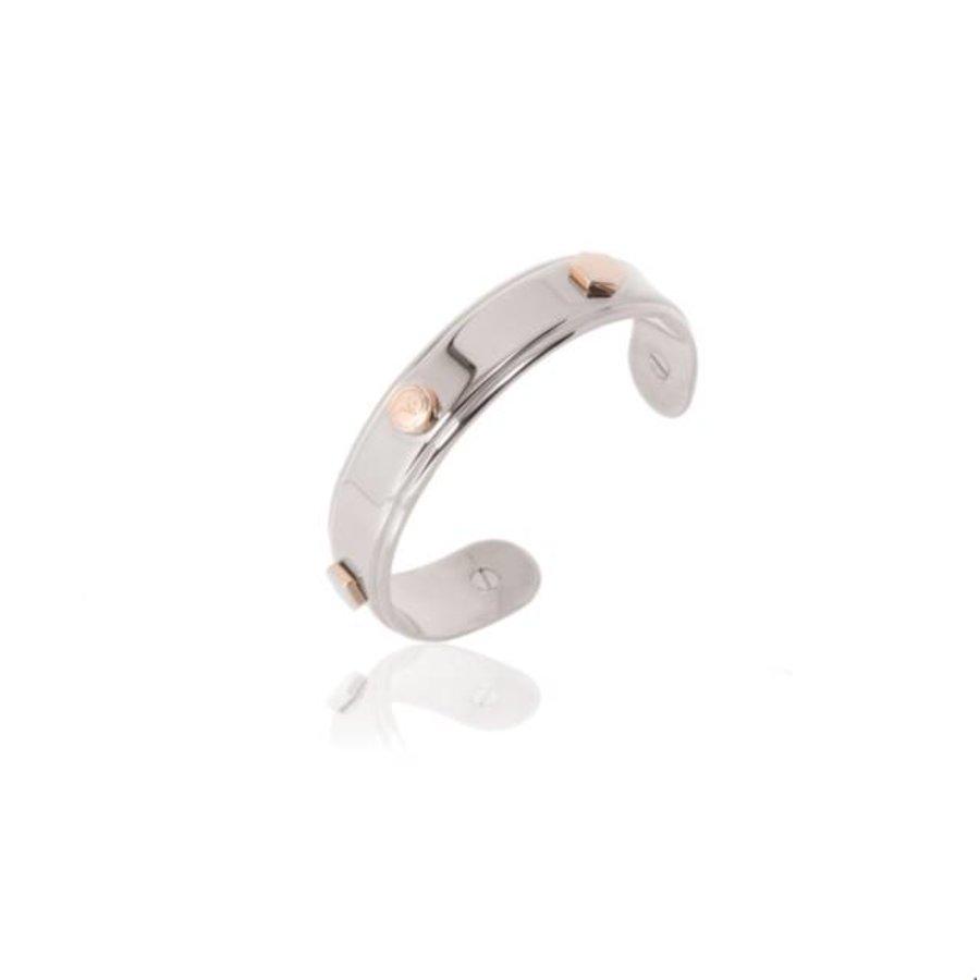 TOV rivets cuff - Silver/ Rose