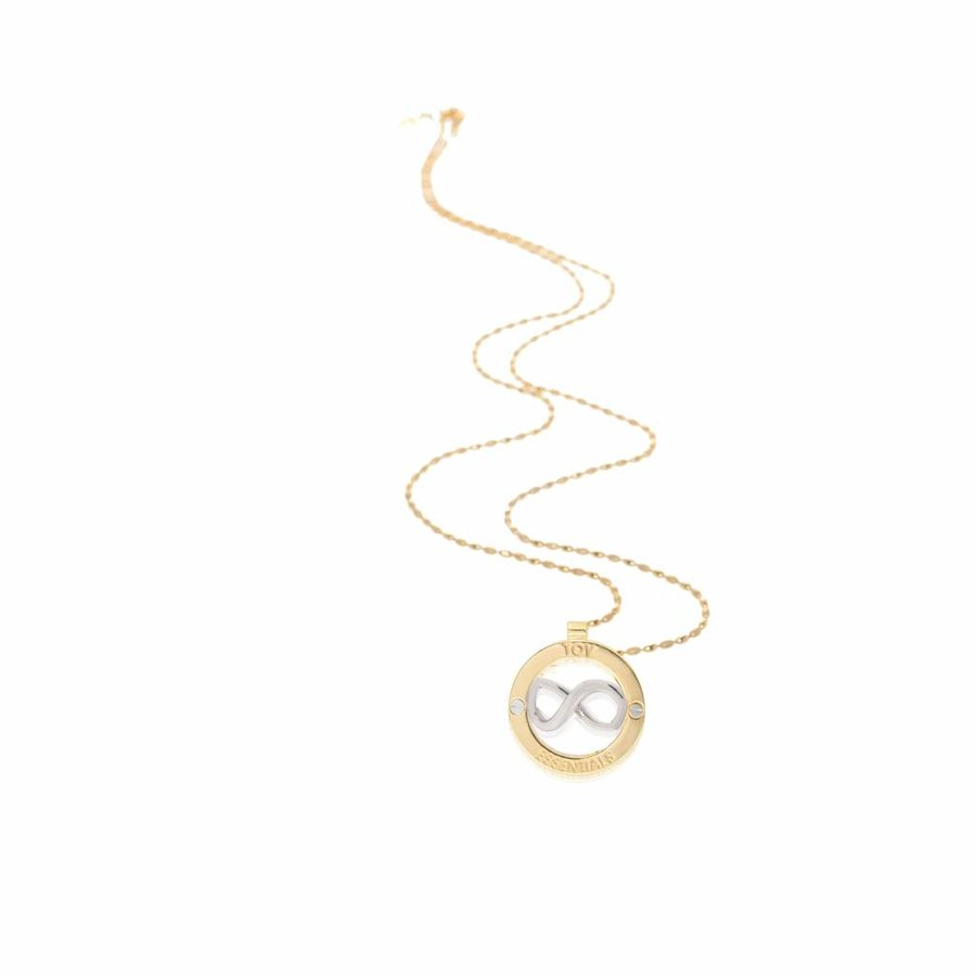 Medallion 85 cm ketting - Goud/ Zilver
