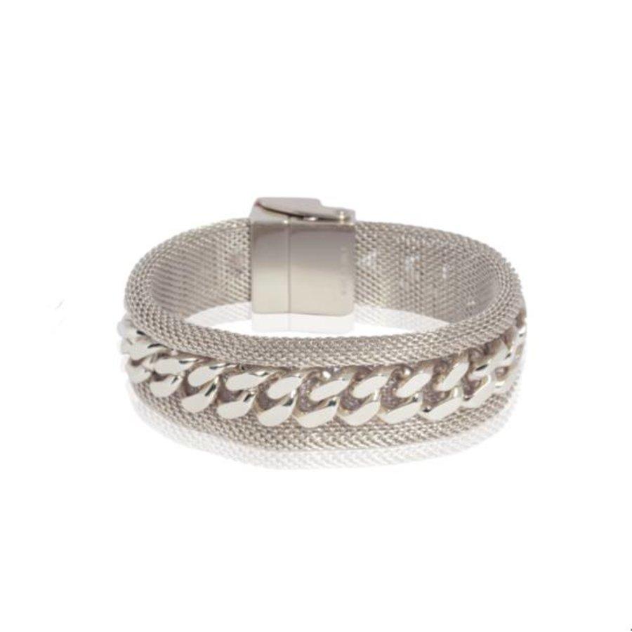 Malien single chain bracelt - White gold
