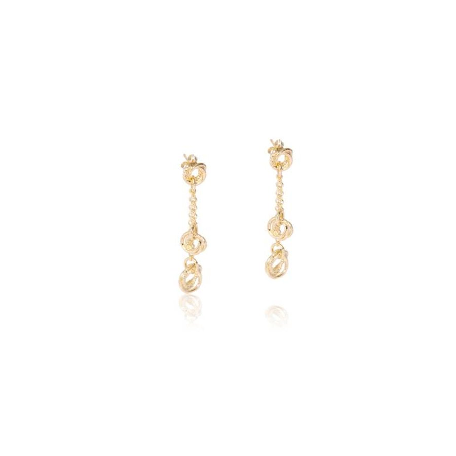 Tri rings earrings - Gold