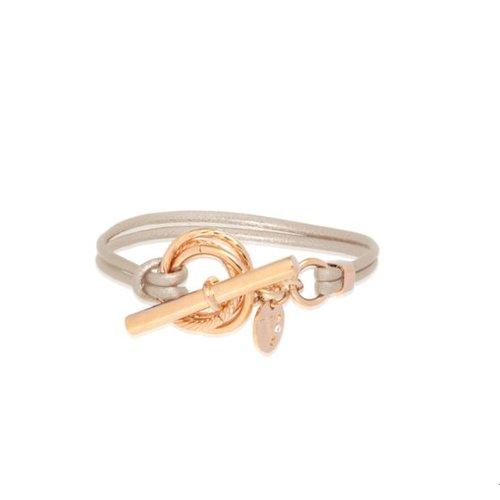 Metallic armband - Rose/ Champagne metallic