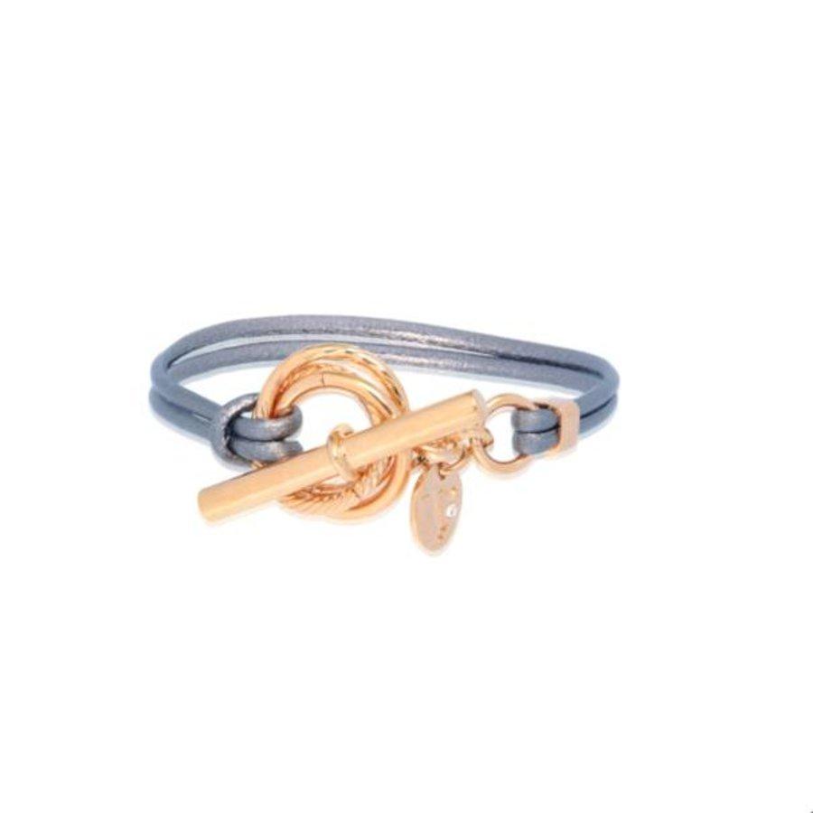 Metallic armband - Rose/ Blue metallic