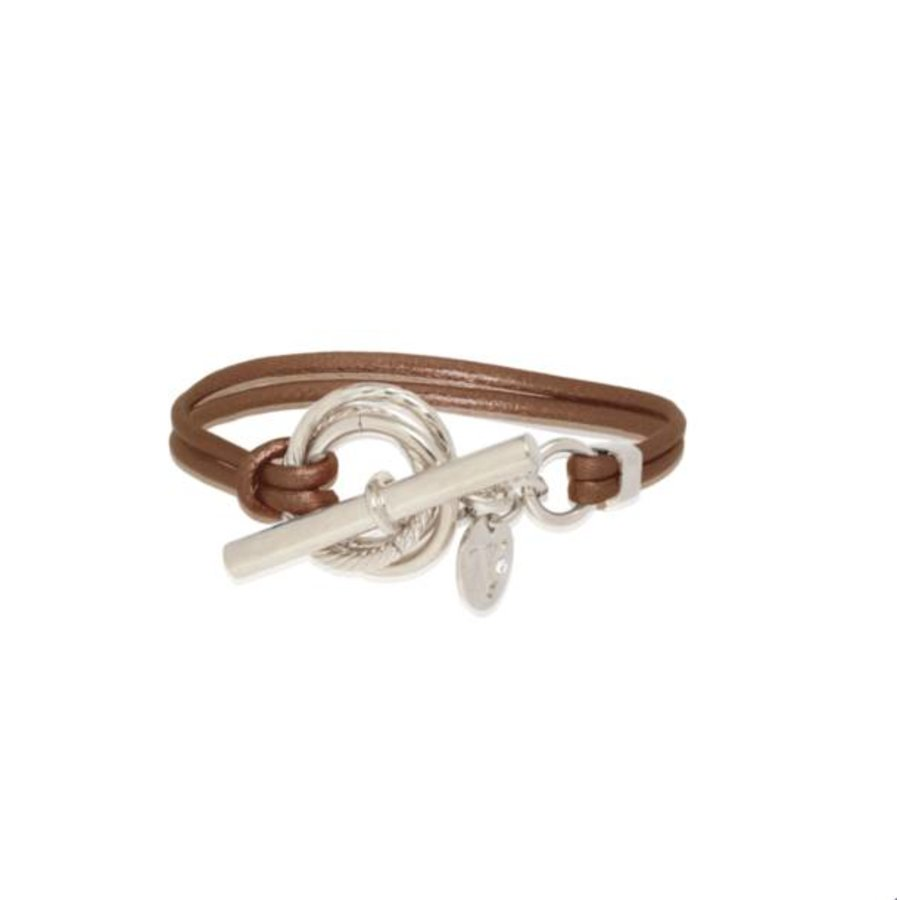 Metalic bracelet - Silver/ Brown methallic