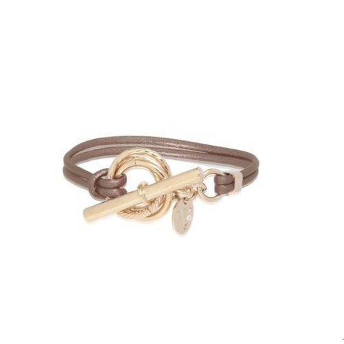 Metalic bracelet - Light gold/ Bronze metallic
