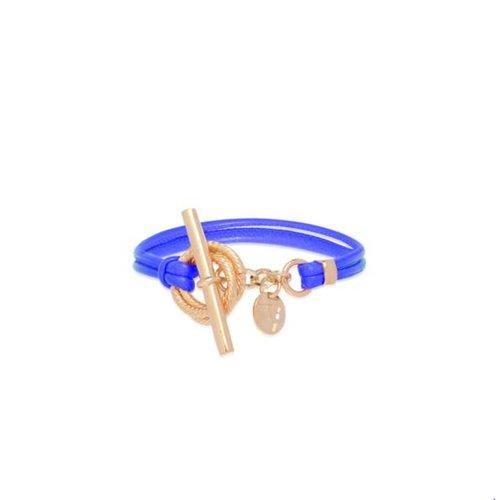 Tri cord bracelet - Rose/ Cobalt