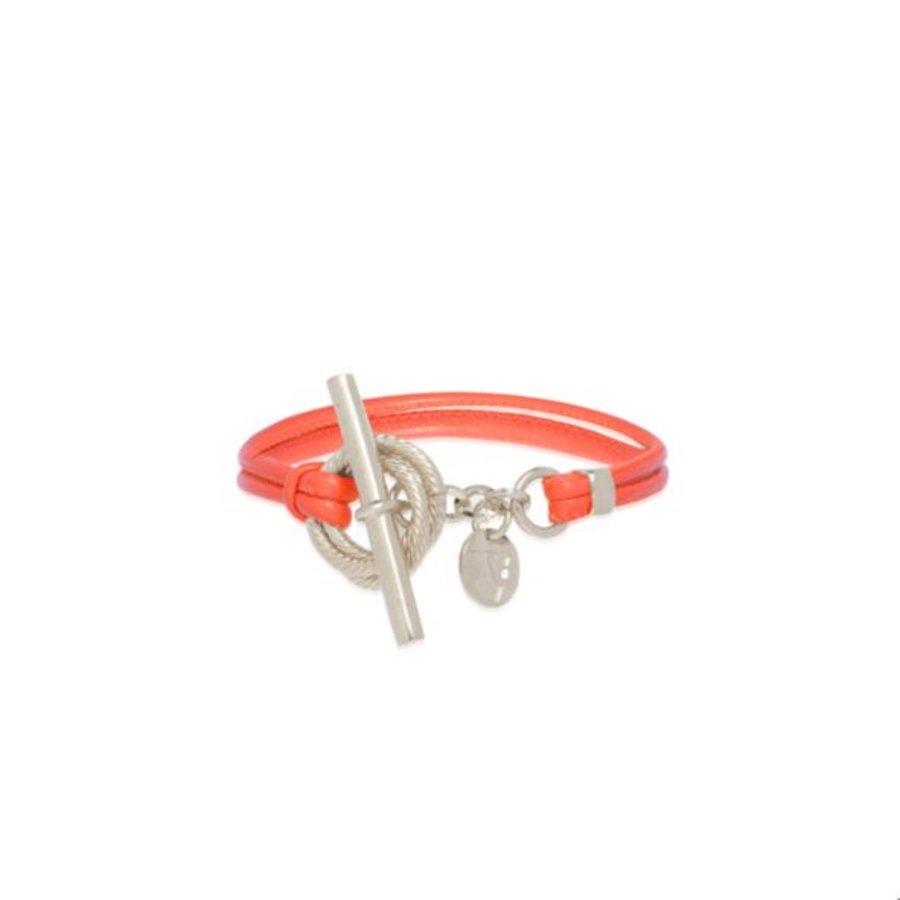Tri cord bracelet - Silver/ Red