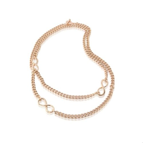 Long gourmet necklace - Rose