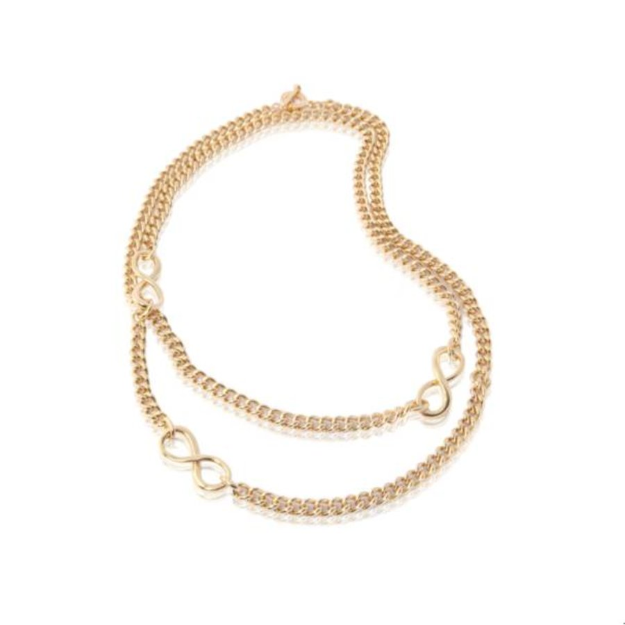 Long gourmet necklace - Gold