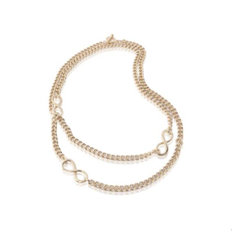Long gourmet necklace - Light gold