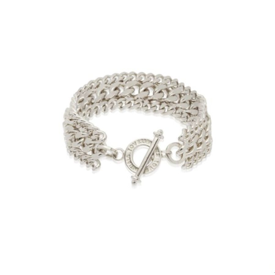 3 types of chain bracelet - White gold