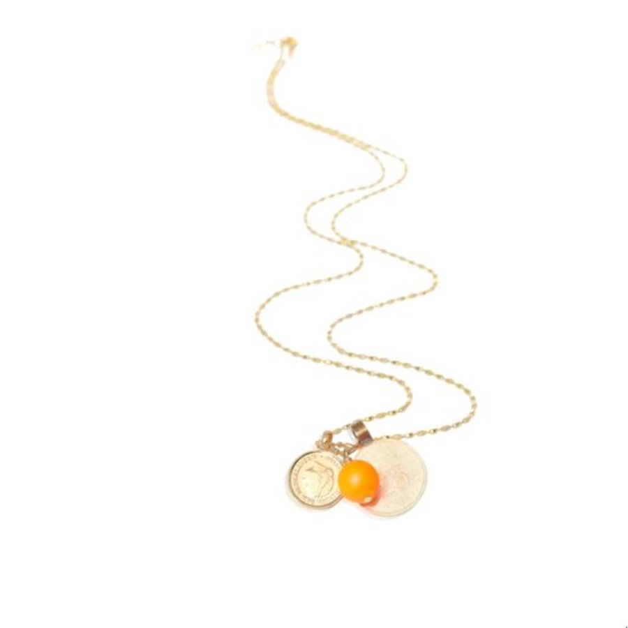 Trix small coin necklace - Gold