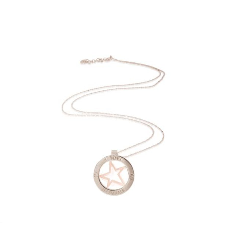 Rising star bi couloour medaillon - Silver/ Rose