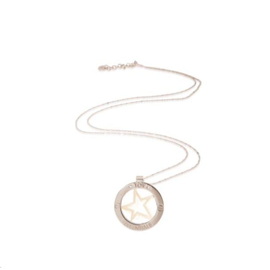 Rising star bi color medaillon ketting - Zilver/ Goud